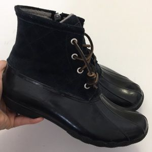 Sperry Top Sider Black duck Boots 7